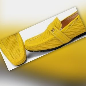 Louis Vuitton Yellow Men's US Size 12 Loafers